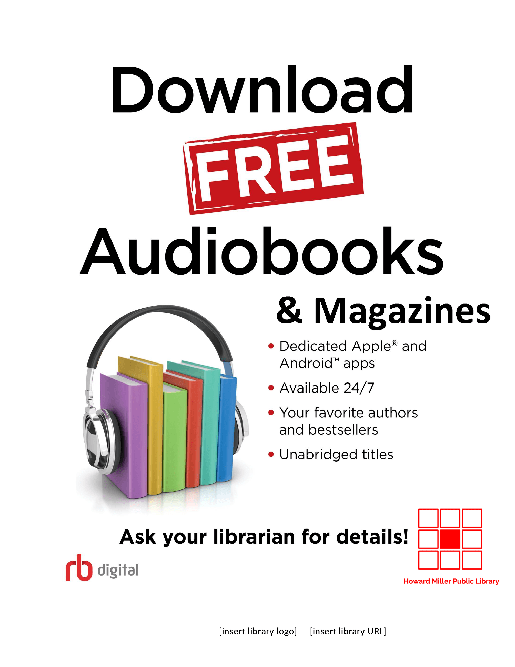 RB Digital Description of Downloadables - emagazines and audiobooks