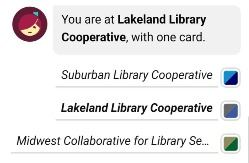 MCLS, Lakeland Library Cooperative, and Suburban Buttons on Libby
