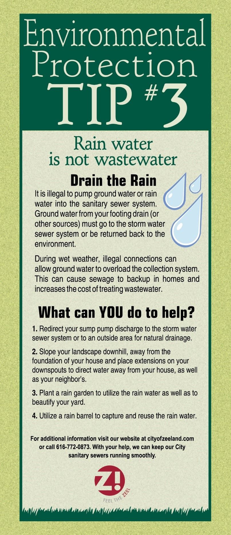 Environmental Tip 3 Rain Water is not Wastewater